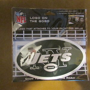 Wincraft Logo on the Gogo NFL New York Jets Car Grille Auto Sign Emblem