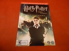 Harry Potter and the Order of the Pheonix Video Game Promo Card PS3 DS Wii Xbox