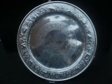 Silver Salver, Glasgow 1876, Sterling Antique, African Animal Decoration