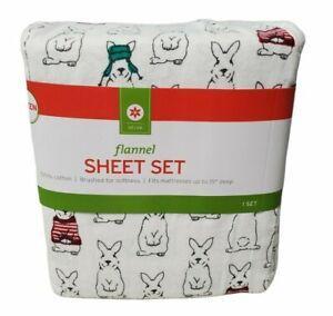 Decor Sheet Set Flannel Bunnies Winter Queen Size Bedding Winter 2015 Target