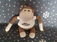 "PG TIPS TV ADVERT HEY MONKEY 11"" SOFT KNITTED MONKEY TOY Window sucker"
