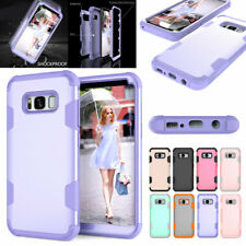 For Samsung Galaxy S20 S10 S9 S8 Plus Note 9 8 Hybrid Shockproof Rubber Case