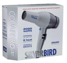 New ConairPRO Silverbird Turbo Hair Dryer Ceramic 2000 Watts 6 speed Settings