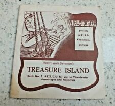 Treasure Island Viewmaster Booklet Only For Reel Set B432 Rare X115