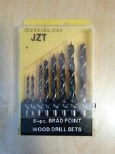 Brad Point Drill Bit Set 1/8 5/32 3/16 1/4 9/32 5/16 11/32 & 3/8 inch 8pc w/case