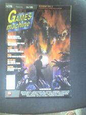 THE GAMES MACHINE 116 Febbraio 1999 RESIDENT EVIL 2 TUROK 2 DRIVER TOP GUN