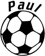 Custom soccer ball decal, personalized soccer ball vinyl sticker, soccer decals