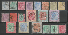 India 1902-11, KEd. 3P-25Rs. SG119-150 Complete Used set of 20 Stamps RARE.