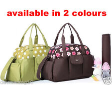 Colorland Large Mum/ Baby Diaper Nappy changing Bag 3 pcs - brown, green