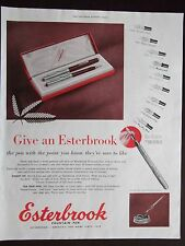 1951 Esterbrook Fountain Pen 9 Tip Models Shown Advertisement