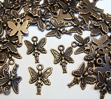 Copper Metal Fairy Charms-Fantasy-Whimsy-Pen dants-Findings-Jewelry-Lot Of 50pcs