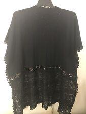 Rinatti Women Sequin/Crochet Sweater/Top Size 1XL-3XL Black Color