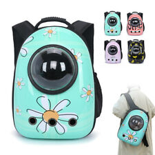 Pet Backpack Carriers Dog Cat Travel Bag Transparent Space Capsule Hiking Biking
