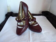 RMK LEE HIGH HEEL  LEATHER BLOOD RED SHOES NEW SIZE 6.5
