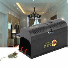 New Home Electronic Rat Mouse Rodent Killer Zapper Trap Poison Free Pest Control