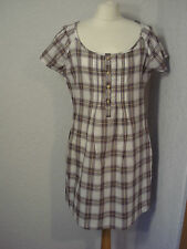 BNWOT Mantaray white & brown checked cotton dress/tunic top 12