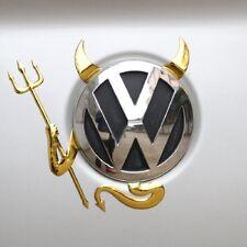 Car Sticker Vinyl Decal Funny 3D Boot Badge Bonnet Devil Evil Monster 3D Gold