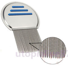Comb Hair Lice Brushes Nit Free Terminator Fine Egg Dust Removal Stainless Steel