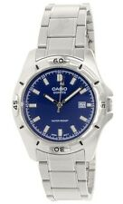 Casio MTP1244D-2A Men's Standard Analog Stainless Steel Date Blue Dial Watch