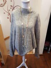 Oversize Strick-Pullover Gr. L grau L.O.G.G. by H&M
