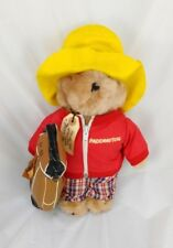Vtg Eden Paddington Bear Golfer Red Jacket Plush 1975