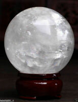 68--70MM Natural White Calcite Quartz Crystal Sphere Ball Healing Gemstone AAA