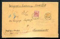 Deutsches Reich Wertbrief mit MiNr. 47 c + 49 a Mischfrankatur Fotobefund (G718