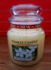 New Yellow Yankee Candle Jar Tobacco Flower Pure Natural Extracts Floral Medium