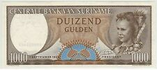 SURINAME / CENTRAL BANK OF SURINAME 1.9.1963 1000 GULDEN (PICK#124) CH CU