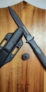 SCHRADE SCHF21 9inONE PIECE DROP Forged Fixed Blade Boot Knife.Hallow Storage.