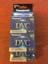 5 Pack Panasonic Digital Video Cassette Tape DVC Mini DV AY-DVM60EJ