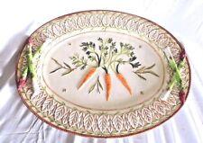 Fitz and Floyd Classics Le Canard Platter Asparagus Carrots Ceramic