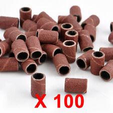 100 pz Scovolini Abrasivi Fresa Lima Ricostruzione Unghie Ricambio Nail Art