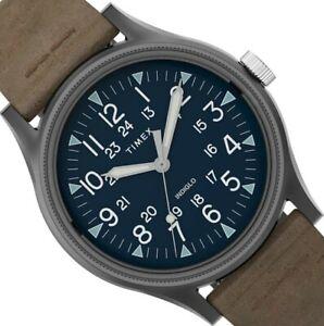 Timex MK1 SST GMT Herren-Uhr TW2T68200 Lederband braun Zifferblatt-Beleuchtung