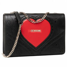 Woman shoulder bag Love Moschino JC4216PP0AKC100A in black PU leather crossbody