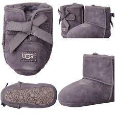Baby UGG Australia Jesse Bow Boots Nightfall Gray Purple Infant Size 0/1 0-6 mo