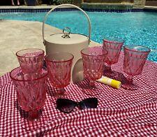 vintage noritake pink perspective glass wine goblets - set of six