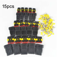 15x/Set 2 3 4 Pin way Waterproof Car Wire Connector Motorcycle Plug Electrical