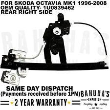 SKODA OCTAVIA MK1 1U2 1U5 1996 > 10 posteriore destro elettrico Finestra Regolatore 1u0839462