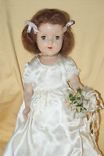 "Vintage 17"" Early Sweet Sue Hard Plastic Strung Bride Wedding Doll"