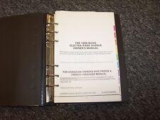 1989 Buick Electra Park Avenue Sedan Original Owner Owner's User Guide Manual V6