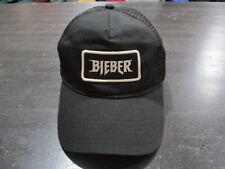 Justin Bieber Hat Cap Black White Purpose Tour Mesh Trucker Concert Pop Singer