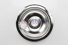 "Whirlpool Maytag Stove Range Cooktop 6"" Burner Chrome Drip Pan Bowl 19950015"