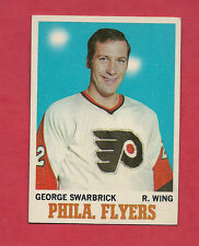 1970-71 TOPPS # 82 FLYERS GEORGE SWARBRICK  NRMT+  CARD