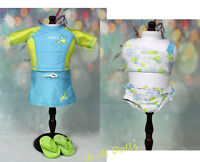 Retired American Girl Doll Just Like You 2 in 1 Surf Swimsuit with Flip Flops