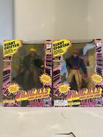 "1995 Playmates Jim Lees WILDCATS Giant Grifter and Spartan 10"" Action Figure Set"