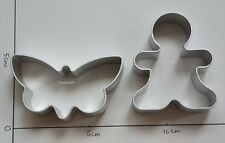 Gingerbread Man & Butterfly Cookie Biscuit Cutter Aluminium Mold Baking Tool New