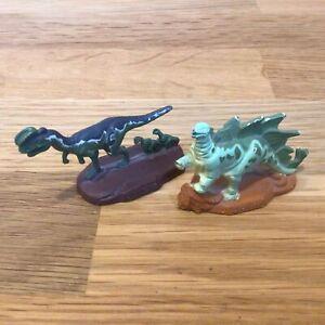 Vintage 1993-Two Metal Jurassic Park Dinosaurs Figures by U.C.S & Amblin #323