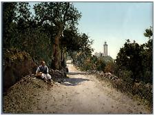 Tanger. Le Cap Spartel. P.Z. vintage photochromie, Maroc photochromie, vintage