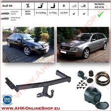 Gancio di traino fisso Audi A6 Berlina, Avant 1997-2005 + kit elettrico 13-poli